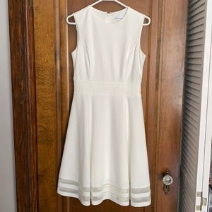 Calvin Klein White Dress with mesh bottom